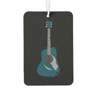 Verzerrte abstrakte Akustikgitarre Autolufterfrischer