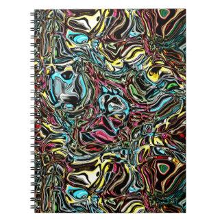 Verzerrte Reflexion von Farben Spiral Notizblock