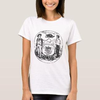 Verzerrter Wisconsin-Siegel-Damen-T - Shirt