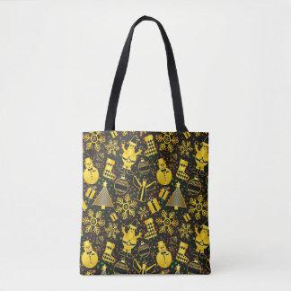 Verzieren Sie mit GoldweihnachtsTaschen-Tasche Tasche