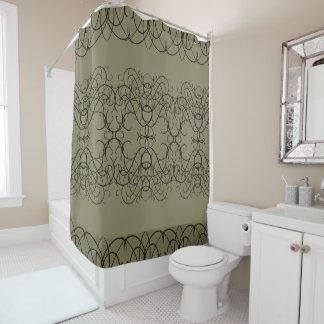 Verziert blühen Sie eleganten extravaganten Duschvorhang