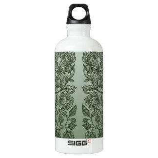 verziert Moosgrün Wasserflasche