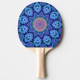 Verzierte blaue tischtennis schläger