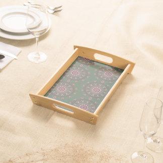 Verzierte Boho Mandala-Olive Tablett