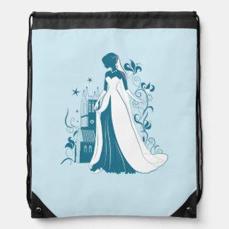 Verzierte Braut-Silhouette, Blumen und gotisches Turnbeutel