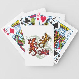 Verzierte Eidechsen Bicycle Spielkarten