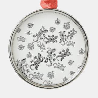 Verzierte Eidechsen Silbernes Ornament