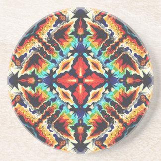 Verzierte geometrische Farben Sandstein Untersetzer