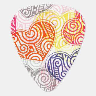 Verzierte Herzen Plektron