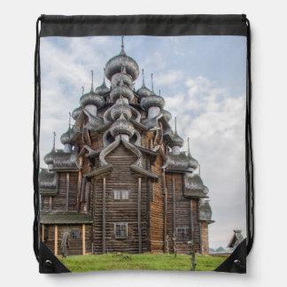Verzierte hölzerne Kirche, Russland Sportbeutel