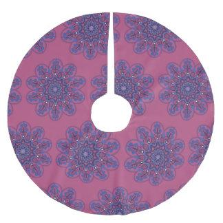Verzierter Boho Mandala Polyester Weihnachtsbaumdecke