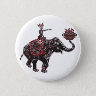 Verzierter Elefant Runder Button 5,1 Cm