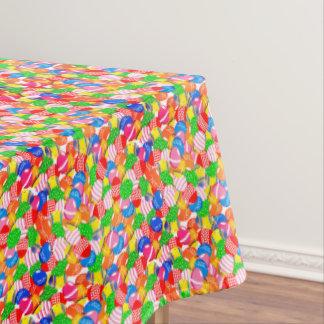 Verzierter farbiger Osterei-Party-Tabellen-Stoff Tischdecke