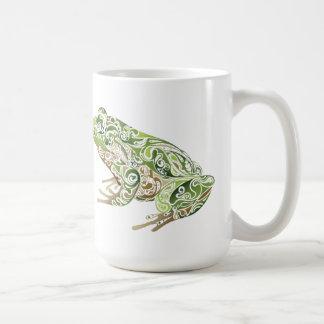 Verzierter Frosch Kaffeetasse