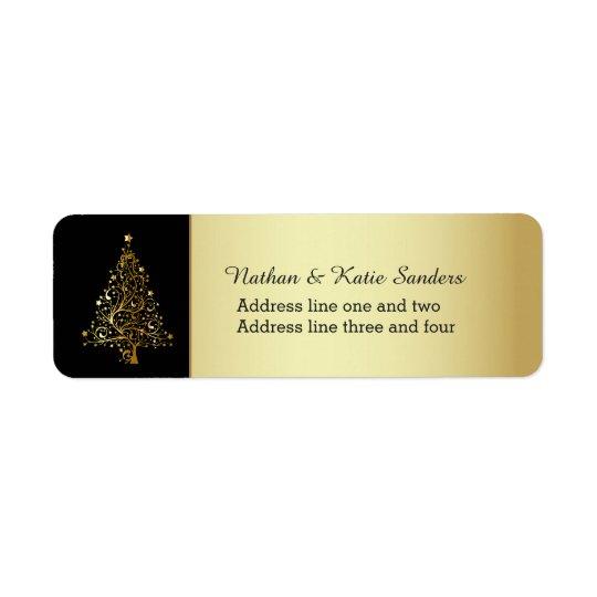 Verzierter Goldweihnachtsbaum