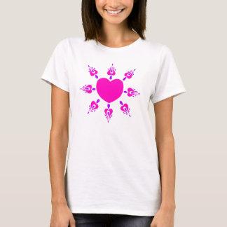Verzierter Herz-T - Shirt