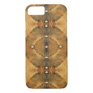 Verziertes Boden-Muster im goldenen Braun iPhone 8/7 Hülle