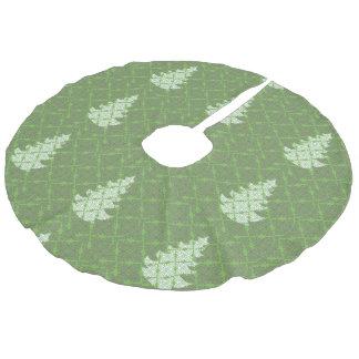 Verziertes DeLuxe Weihnachtsbaum-Muster Leinenimitat Weihnachtsbaumdecke