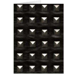 Verziertes schwarzes Leder Grußkarte