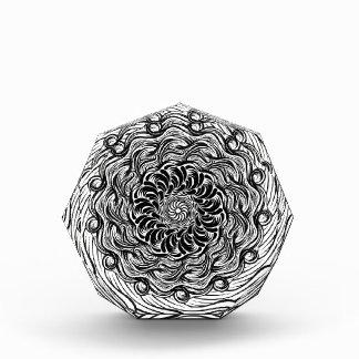 Verziertes Zen-Gekritzel-optische Illusion Auszeichnung