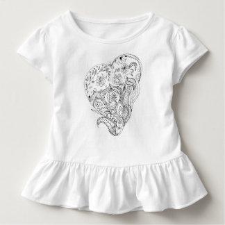 Verziertes zu färben Kleinkind-Rüsche-T-Stück Kleinkind T-shirt