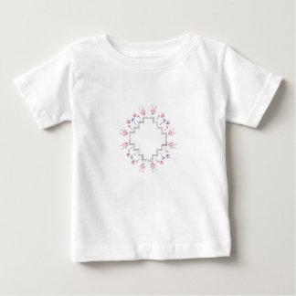 Verzierung auf Weiß Baby T-shirt