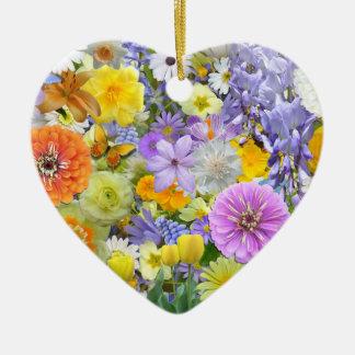Verzierung - Blumen und Schmetterlinge Keramik Ornament