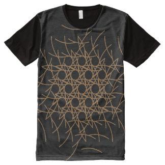 Verzierung der Bogen der Kreise ganz über T-Shirt Mit Bedruckbarer Vorderseite