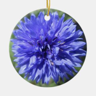 Verzierung - der Knopf des Cornflower-blauen Keramik Ornament