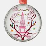 Verzierung des Eiffelturms im Frühjahr Ornament