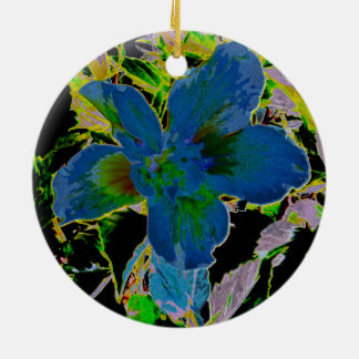 Verzierung des Hibiskus-2635a Keramik Ornament