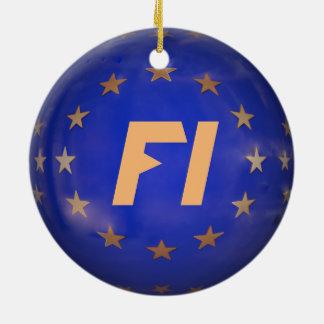 Verzierung Finnlands E.U. Flag Christmas Keramik Ornament