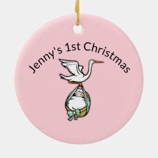 Verzierung für Baby-erstes Weihnachten Keramik Ornament