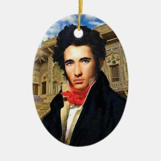 Verzierung Georges Darcy Ovales Keramik Ornament