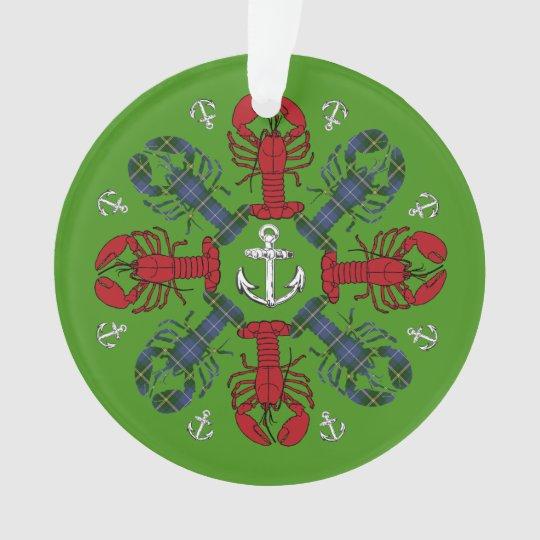 Verzierung Hummer-Schneeflocke-Anker N.S. Ornament