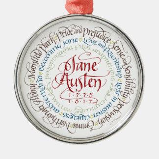 Verzierung - Jane Rundes Silberfarbenes Ornament