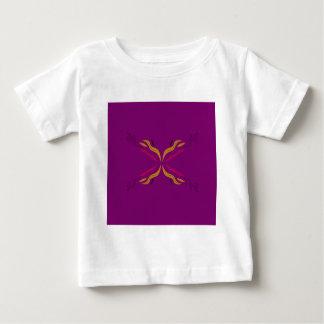 Verzierung lila baby t-shirt