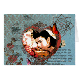 Verzierung Lord-Rama Bollywood God Aum mit Blumen Grußkarte