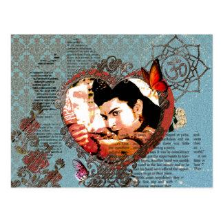 Verzierung Lord-Rama Bollywood God Aum mit Blumen Postkarten