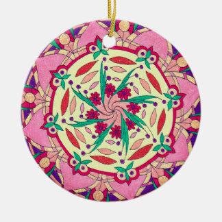Verzierung mit Colorart Mandala Rundes Keramik Ornament