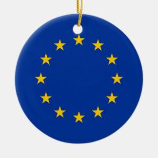 Verzierung mit Flagge der europäischen Keramik Ornament