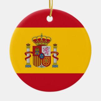 Verzierung mit Flagge von Spanien Keramik Ornament