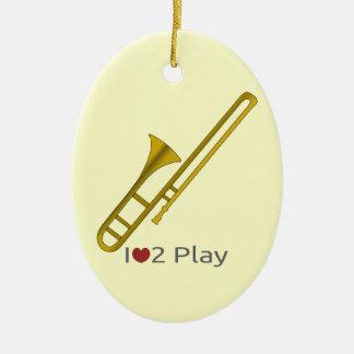 Verzierung mit Illustration eines Trombone Keramik Ornament
