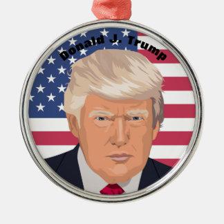 Verzierung Präsidenten-Donald J. Trump Silbernes Ornament