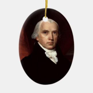 Verzierung Präsidenten-James Madison Ovales Keramik Ornament