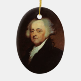 Verzierung Präsidenten-John Adams Ovales Keramik Ornament