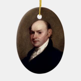 Verzierung Präsidenten-John Quincy Adams Ovales Keramik Ornament