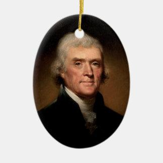 Verzierung Präsidenten-Thomas Jefferson Ovales Keramik Ornament