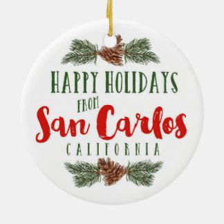 Verzierung San Carlos Kalifornien - Tivoli Gebäude Keramik Ornament
