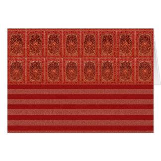 Verzierung stripes rotes Lila der orange Scheune Grußkarte